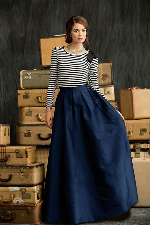 Floor Length First Snow Skirt from the Winter Wonderland Collection by Shabby Apple