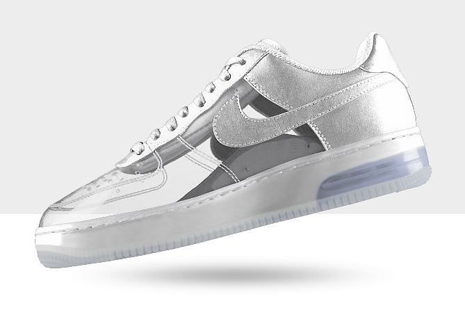 NIKEiD Air Force 1 Invisible and Sparkle Patent Options Now Available | Hypebeast