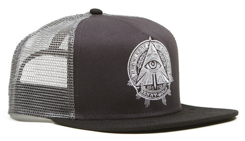 Benny Gold - Pyramid Mesh Trucker Charcoal