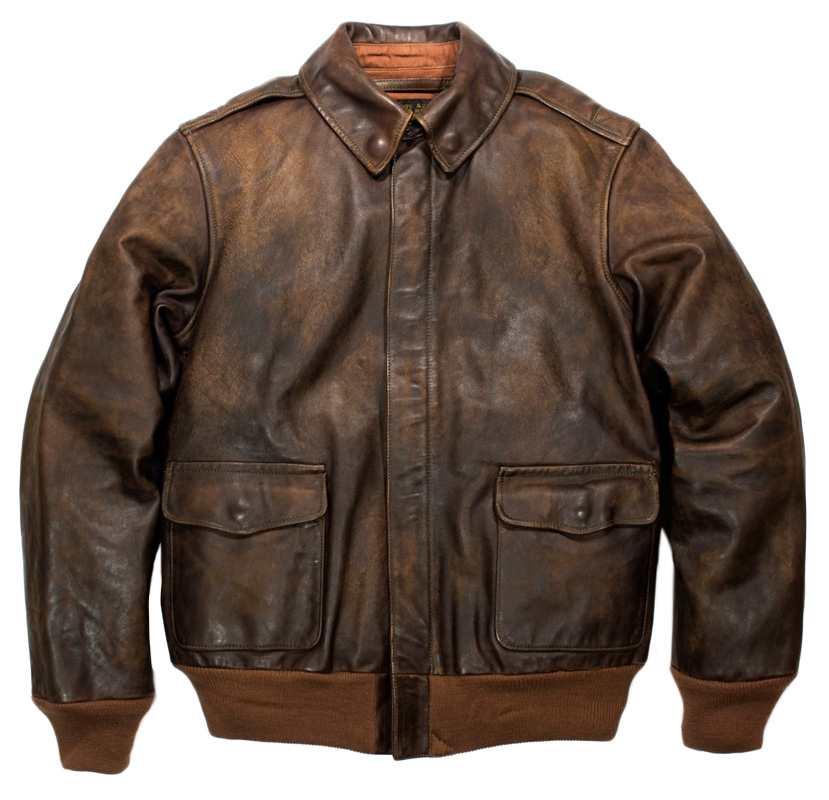 RRL A-2 LEATHER JACKET