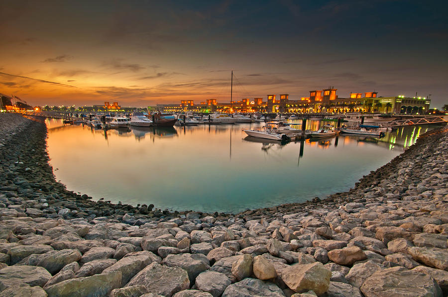 Kuwait Sharq Market Evening Photograph by Shahbaz Hussain - Kuwait Sharq Market Evening Fine Art Prints and Posters for Sale