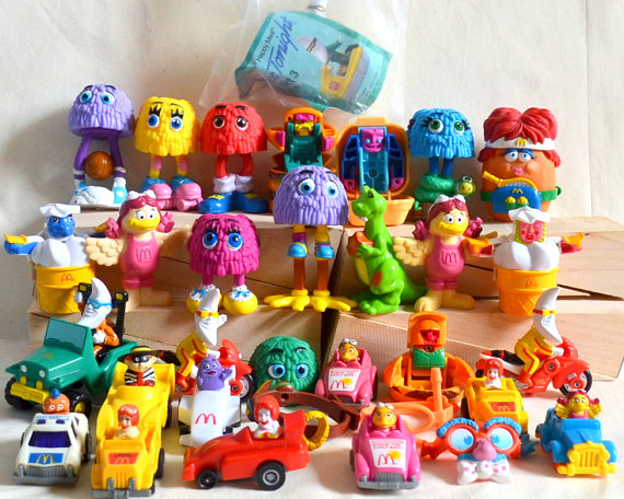 RESERVED Vintage McDonald's Toys 1980's 90's by VintageAndSupply