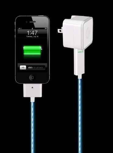 Amazon.com: Dexim Visible Green Smart Charge & Sync Cable for iPhone, iPod Touch & iPad (White/Blue): Cell Phones & Accessories