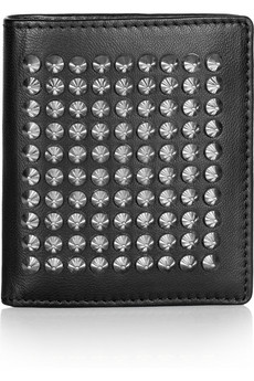 Christian Louboutin | Paros spiked leather wallet | NET-A-PORTER.COM