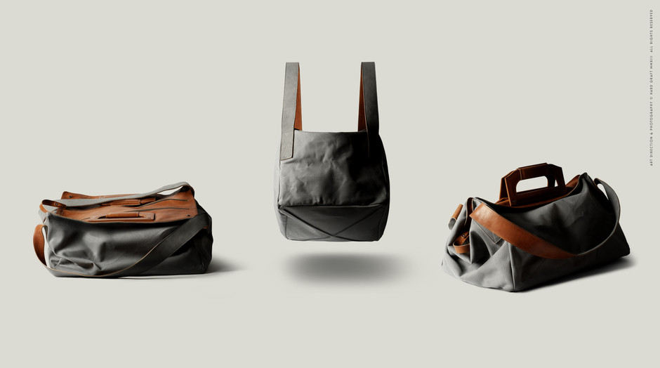 leather and canvas holdall travel bag   hard graft