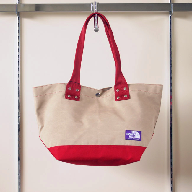 THE NORTH FACE PURPLE LABEL - Tote Bag M #TAN×RED