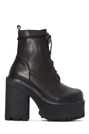 UNIF Choke Leather Boot   Shop Shoes at Nasty Gal!