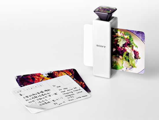 scent capturing postcard printer for sony by li jingxuan