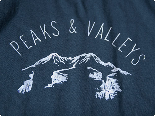 ENDS and MEANS Peaks & Valleys Tee NAVY 通販