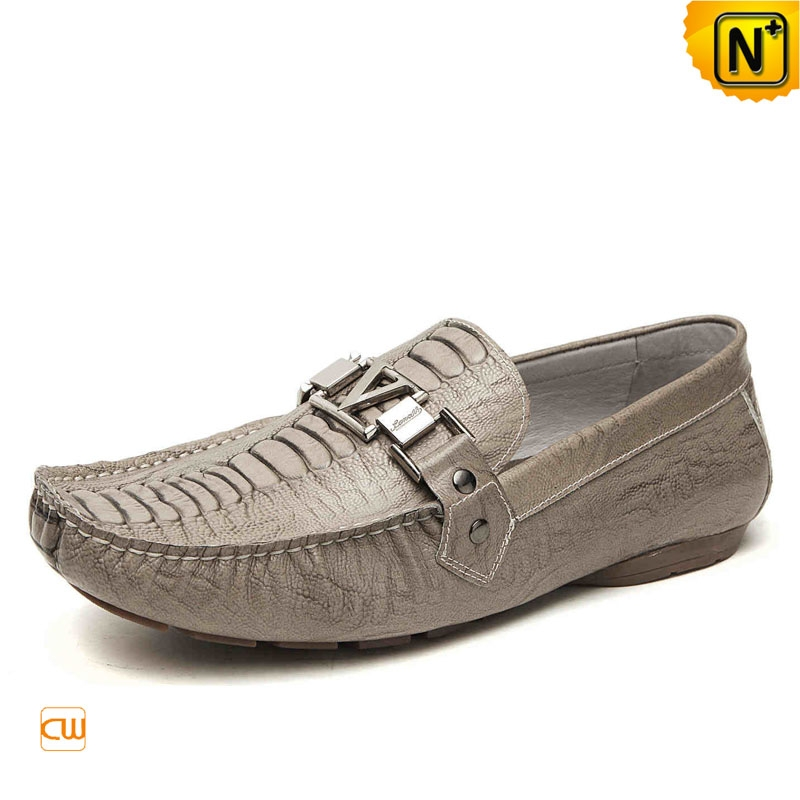 Mens Moccasins Leather Driving Shoes CW740008