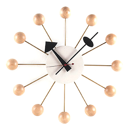 Boost Your Kid's Room Décor with George Nelson Ball Clock | Modern Baby, Toddler, and Kid Innovative Products - Plioz