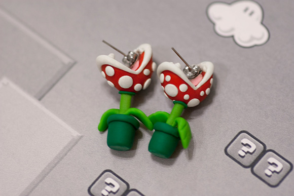 YOUCH Piranha Plant Earrings by lizglizz on Etsy