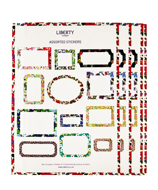 Assorted Liberty Print Sticker Labels, Liberty London. Shop more stationery from the Liberty London collection online at Liberty.co.uk