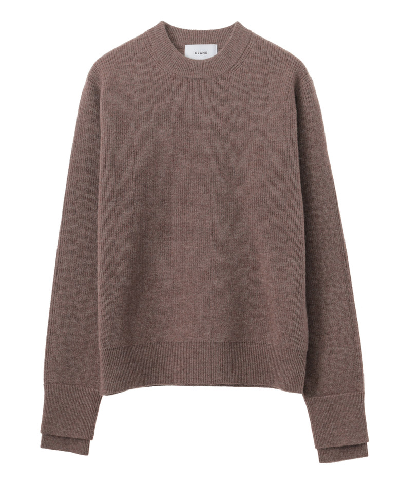 LAYER SLEEVE KNIT TOPS CLANE OFFICIAL ONLINE STORE