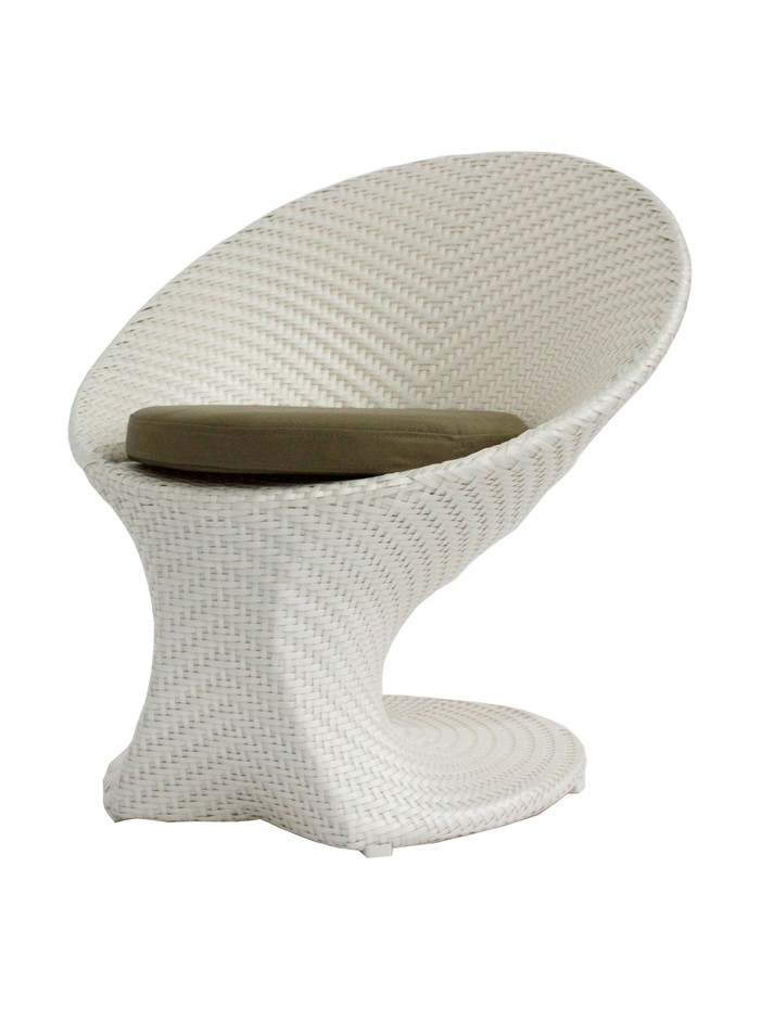 100 Essentials Party All-Weather Coffee Chair, Cream/Clay at MYHABIT