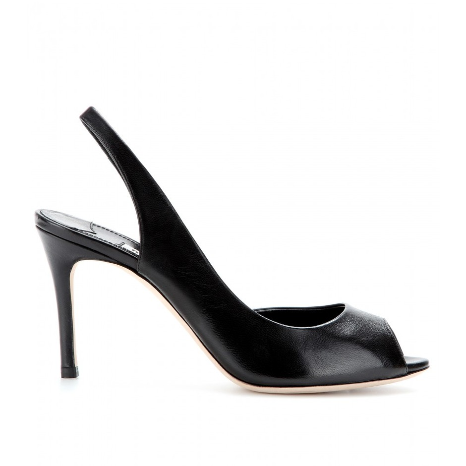mytheresa.com - Leather sling-back pumps - Luxury Fashion for Women / Designer clothing, shoes, bags