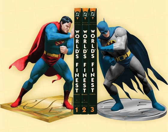 Amazon.com: Superman/Batman: World's Finest Bookends: Toys & Games