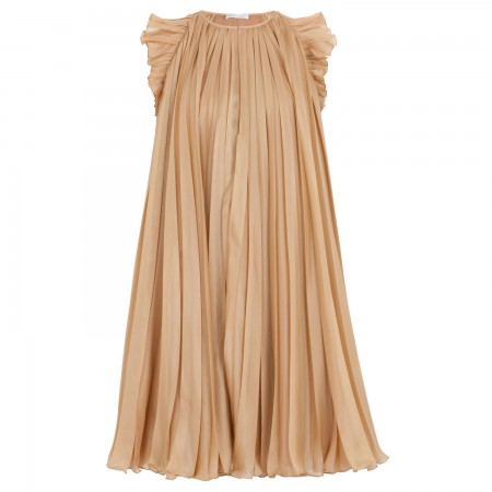 Ruffle trim pleated silk dress, Cocktail, Harvey Nichols Store View