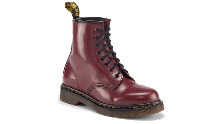 Dr Martens 1460 Boot CHERRY RED MILLED SMOOTH - Doc Martens Boots and Shoes