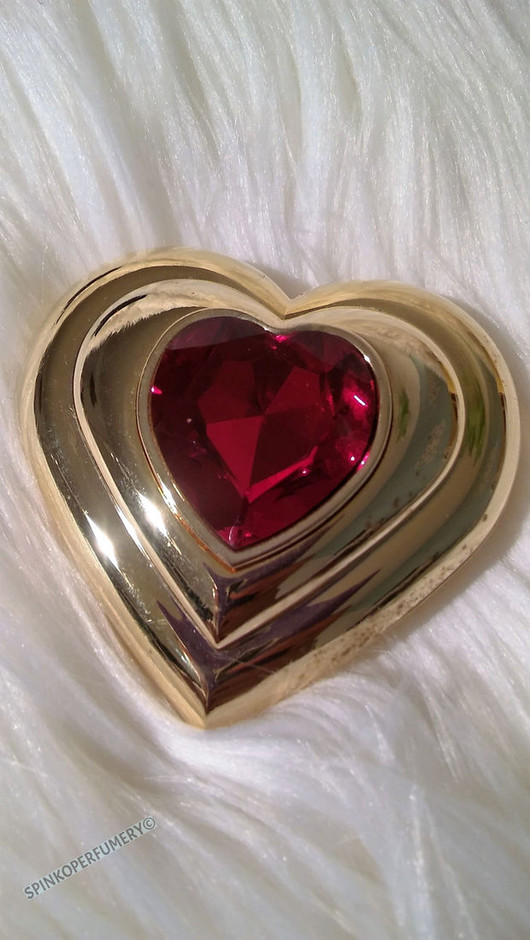 New Vintage Yves Saint Laurent Poudre Ecrin Fine Gold Plated Jeweled Heart Compact on Wanelo