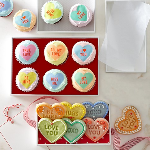 Williams-Sonoma Valentine Cupcake Toppers | Williams-Sonoma