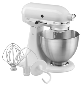ShopKitchenAid: KitchenAid Classic Series 4.5 Quart Tilt-Head Stand Mixer K45SSWH