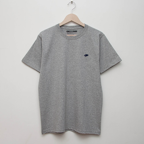 Embroidered Tee - Grey - cup and cone WEB STORE