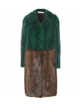 mytheresa.com - Marni - TWO TONE FUR COAT - Luxury Fashion for Women / Designer clothing, shoes, bags