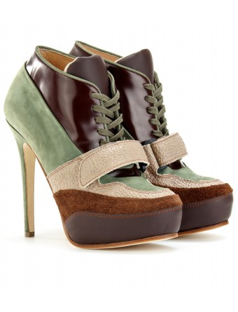 mytheresa.com - Acne - ACE LACE-UP LEATHER BOOTIES - Luxury Fashion for Women / Designer clothing, shoes, bags