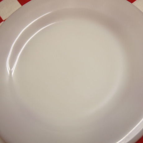 Fire King White Restaurant Ware G297 Pie & Salad Plate | Jadeite Magic Gallery