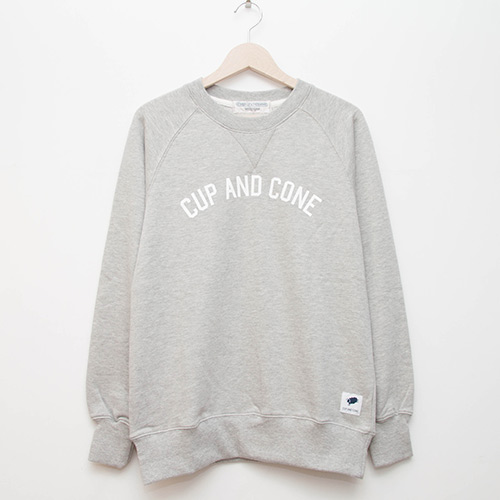 Arch Logo Crew - Grey - cup and cone WEB STORE