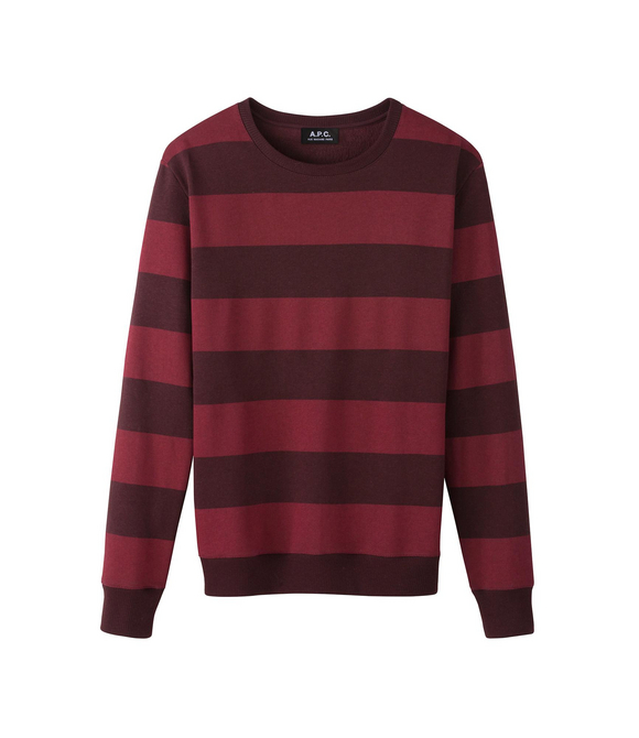 Sweat-shirt rugby Aubergine - A.P.C. HOMME