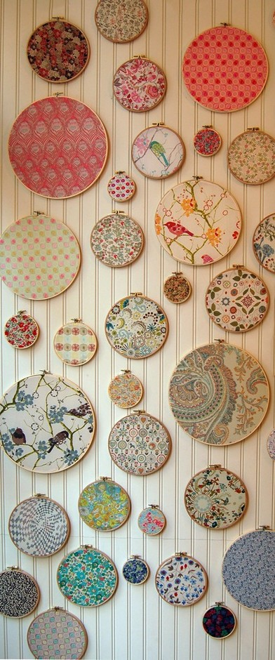 25 DIY Projects using Embroidery Hoops. | The New Home Ec