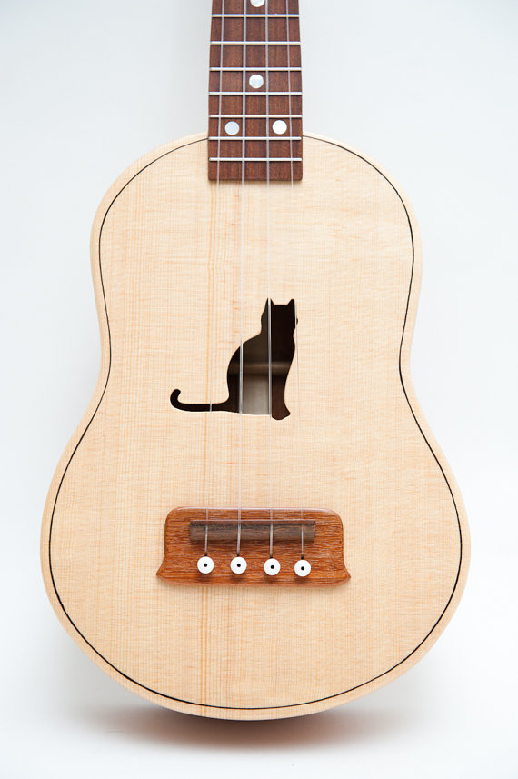 Concert ukulele customizable sound hole of by celentanowoodworks