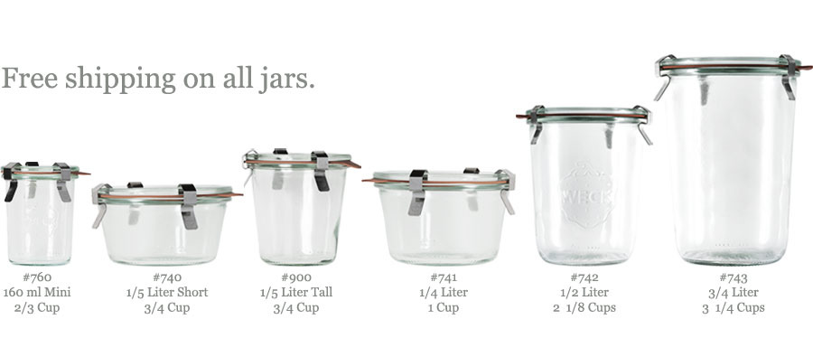 Weck Canning Jars (Straight) - Kaufmann Mercantile Store