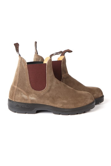 Shoes All Brands 552 ELASTIC SIDE BOOT OLIVE SUEDE - WP Store