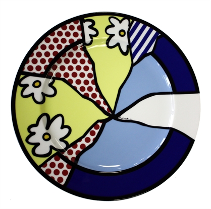 Service Plates (Water Lily) (Set of 4) by Roy Lichtenstein on artnet Auctions