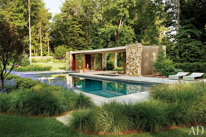 A Contemporary Connecticut Poolhouse by SPaN Architects : Interiors + Inspiration : Architectural Digest