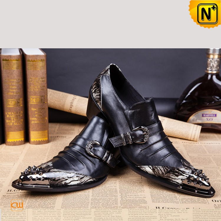 Men's Black Pointed Toe Dress Shoes CW751111