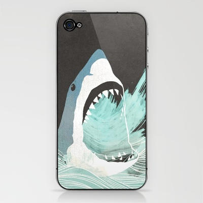 Great White iPhone & iPod Skin by Chase Kunz | Society6