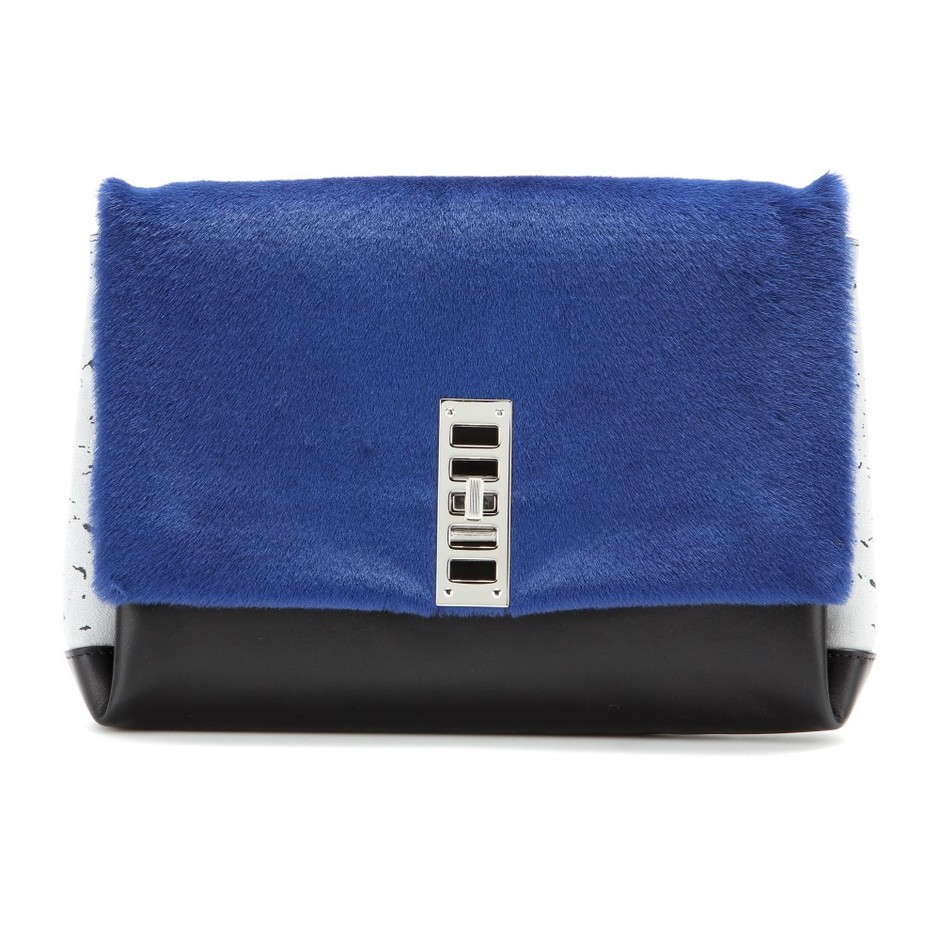 mytheresa.com - PS Elliot calf-hair and leather clutch - Clutch bags - Bags - Luxury Fashion for Women / Designer clothing, shoes, bags