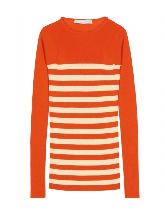 mytheresa.com - Stella McCartney - COLOUR PLAY STRIPED KNIT PULLOVER - Luxury Fashion for Women / Designer clothing, shoes, bags