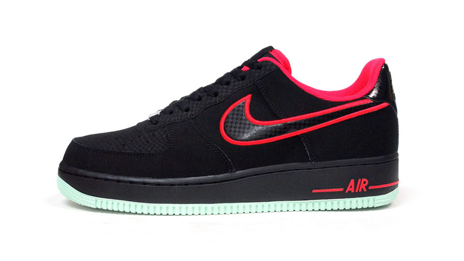 """AIR FORCE I 07 """"LIMITED EDITION for ICONS"""" BLK/RED ナイキ NIKE 