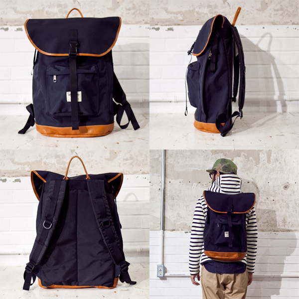 WONDER BAGGAGE GOODMANS BACKPACK グッドマンズ バックパック NAVY / BLACK ネイビー/ブラック[バリスターナイロン] - struct / blueover WONDER BAGGAGE hola Tiny Formed
