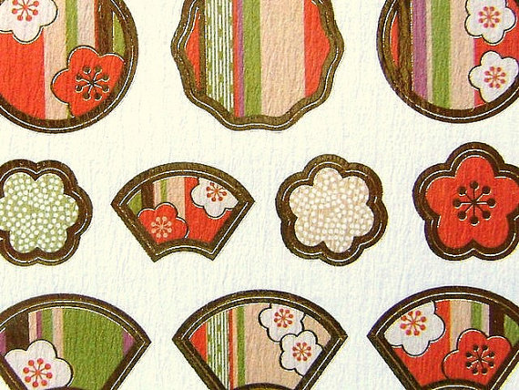 Japanese Chiyogami Stickers Plum Blossoms S25 by FromJapanWithLove