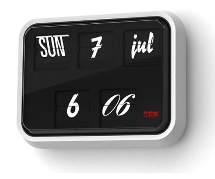 Font Clock by Sebastian Wrong | Apartment Therapy New York
