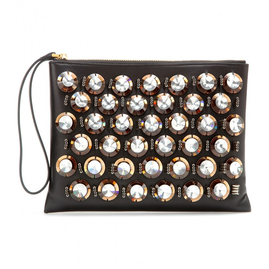 mytheresa.com - Embellished leather clutch - Current week - New Arrivals - Luxury Fashion for Women / Designer clothing, shoes, bags