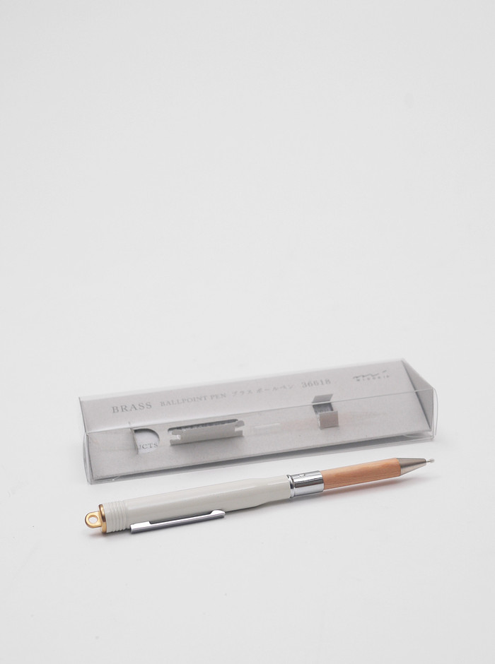 Midori Brass Pen Set White | Present London
