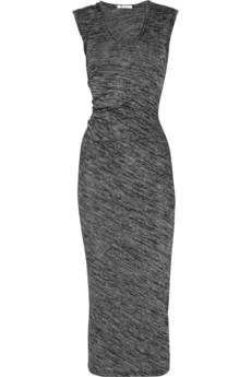 T by Alexander Wang | Drape-back stretch-jersey maxi dress | NET-A-PORTER.COM