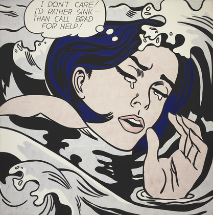 MoMA | The Collection | Roy Lichtenstein. Drowning Girl. 1963